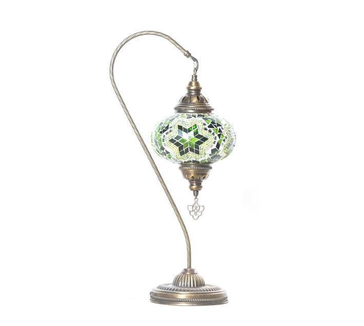 Turkish Handmade Mosaic Swan Neck Lamp Light - Green