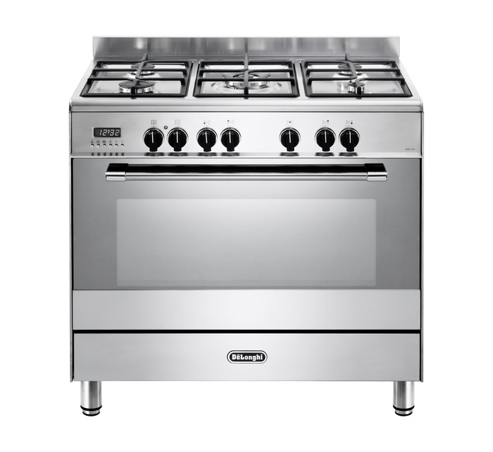 DELONGHI 900MM 5 BRNR GAS/ELEC STOVE S/S