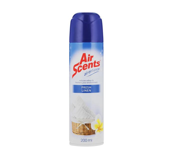 AIR SCENTS Air Freshener Aerosol Fresh Linen (1 x 200ml)