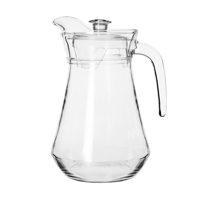 REGENT 1.3l Catering Glass Jug with Clear Lid