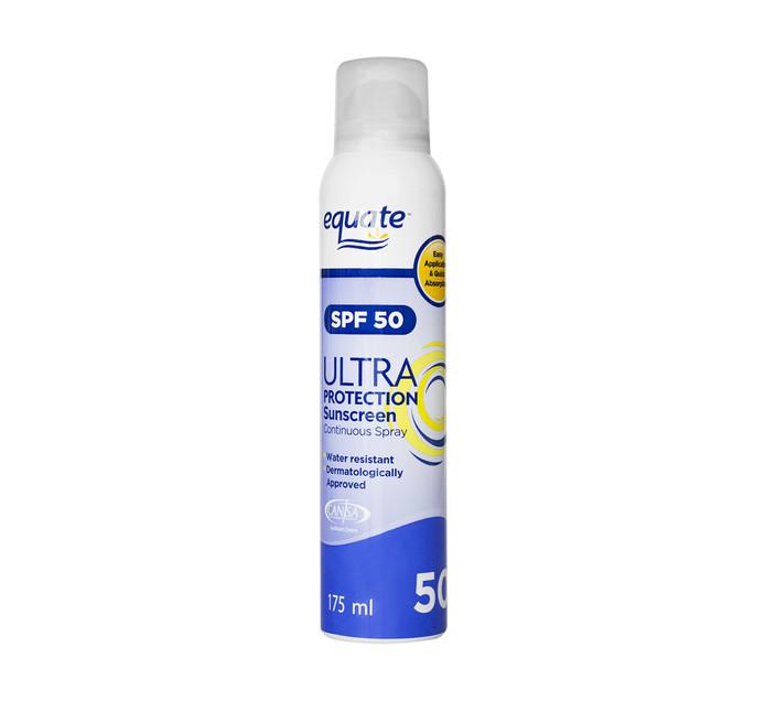 EQUATE Ultra SPF50 Spray (6 x 175ml)