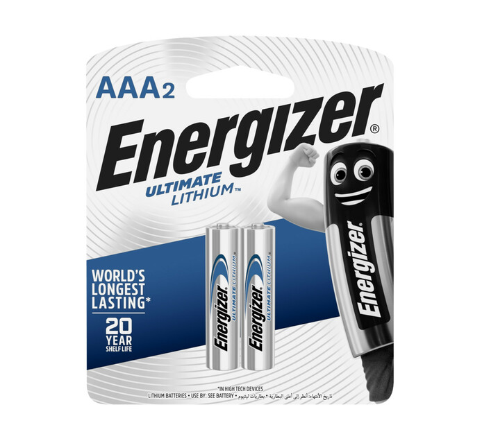 ENERGIZER 2 Pack AAA Lithium Batteries