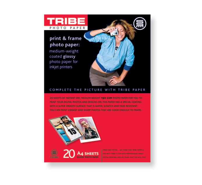 TRIBE A4 Gloss Photo Paper 20 Sheets
