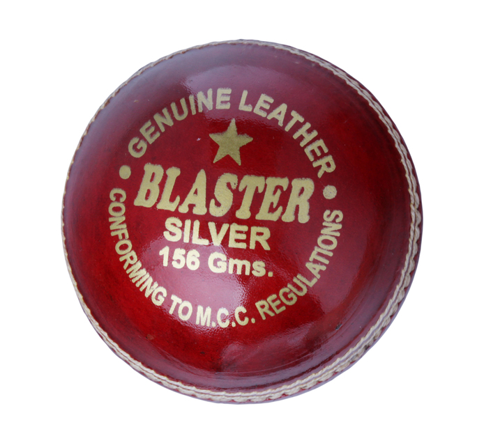 BLASTER SILVER CRICKET BALL 156G RED
