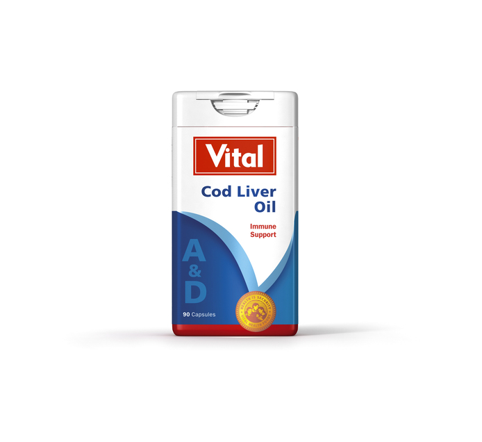 VITAL COD LIVER OIL CAPSULES 90'S
