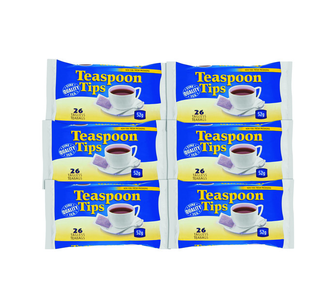 TEASPOON TIPS Bailer Bag (6 x 26's)