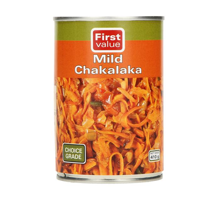 FIRST VALUE Chakalaka Mild (12  x 410g)