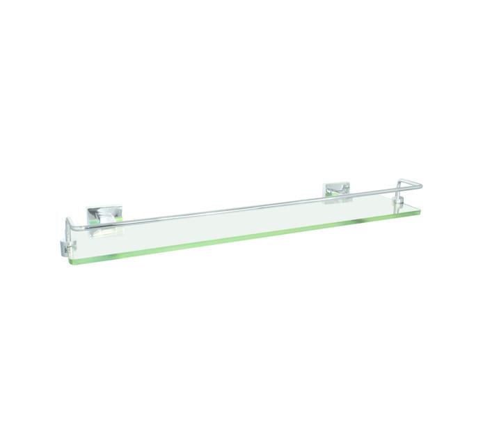 WILDBERRY 500 mm x  125 mm Glass Shelf with Rail
