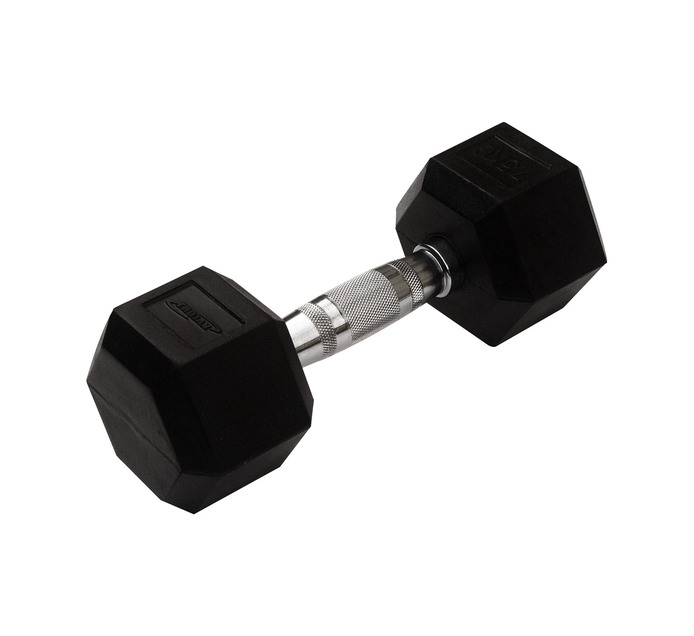 TROJAN 7.5kg Rubber Coated Hex Dumbbell