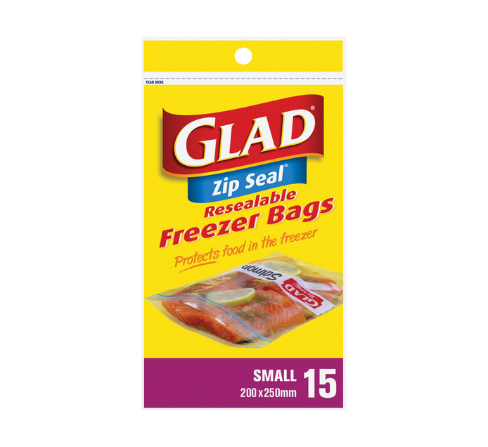 GLAD Zipper Freezer Bags Small (1 x 15's)