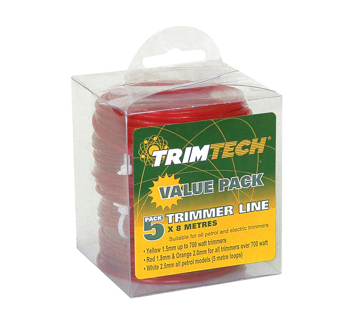 TRIMTECH 1.8 mm x 15 m Trimmer Replacement Line 5 Pack