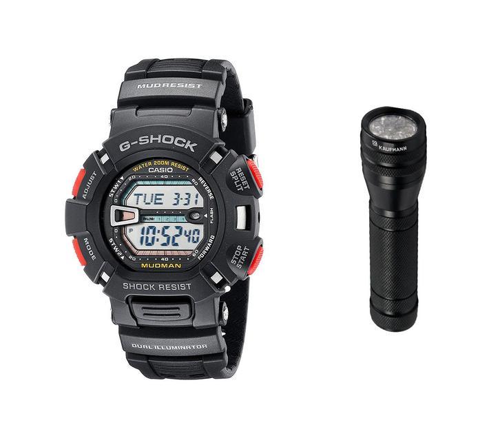 Casio G-Shock Mudman G-9000-1VDR Digital Watch Bundle
