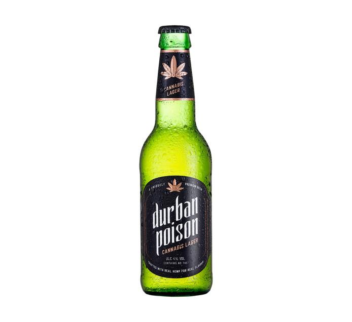 DURBAN POISON Cannabis Flavoured Lager (24 x 340ml)
