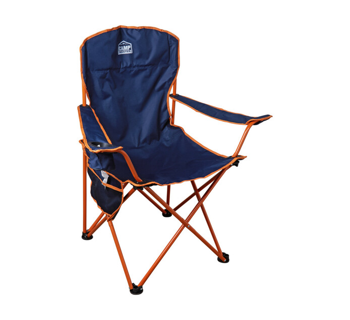 CAMPMASTER Oversize Arm Chair Blue And Orange