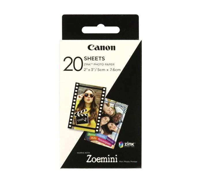CANON Zink Paper ZP-2030 20 Sheets