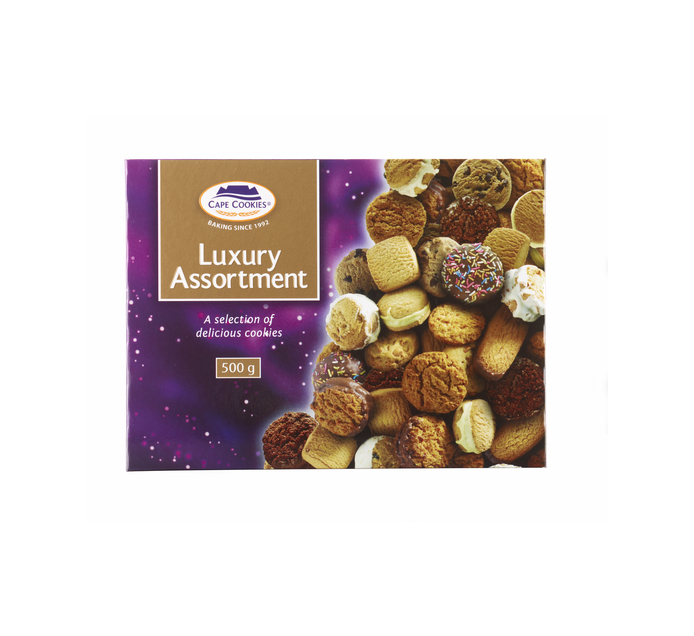 CAPE COOKIES Luxury Box Biscuits (1 x 500g)