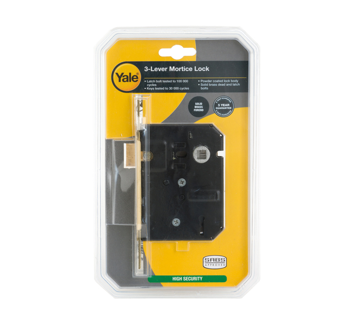 YALE 3 Lever Coated Lock