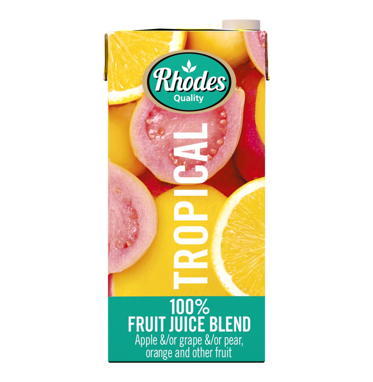 Rhodes 100% Fruit Juice Blend Tropical (6 x 1lt)