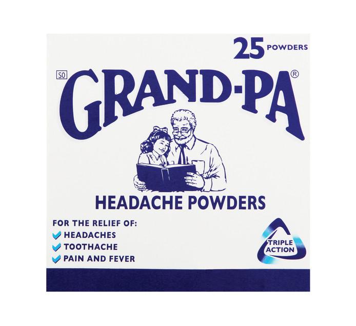 GRANDPA HEADACHE POWDERS 25'S