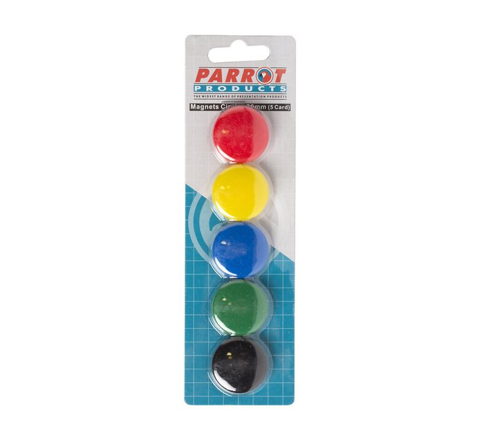 PARROT Magnets Circle Assorted 5 Pack