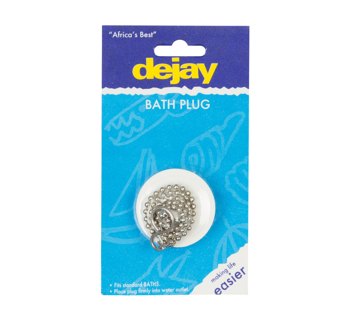 DEJAY Bath Plug Pvc with Chain