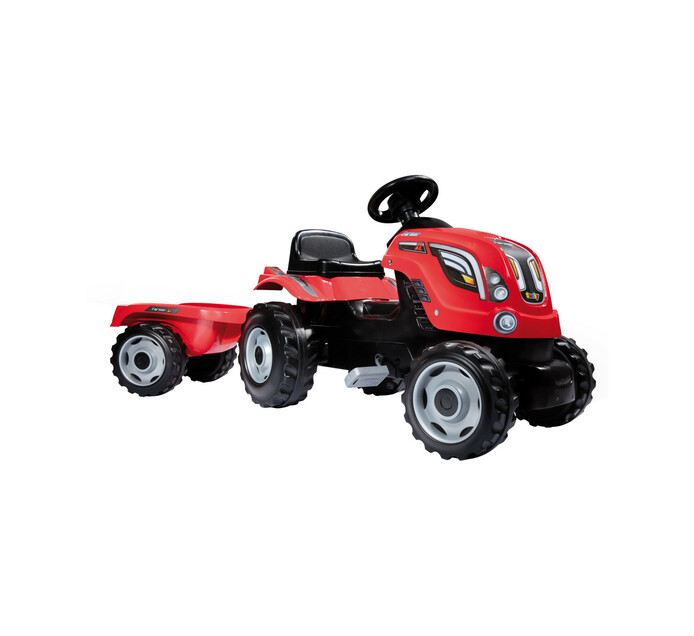 SMOBY FARMER XL TRACTOR & TRAILER RED