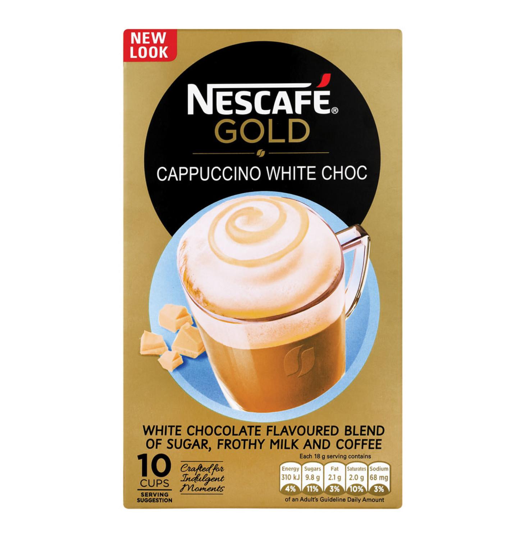 Nescafe Cappuccino Sachets Cafe White Choc (10 x 18g)