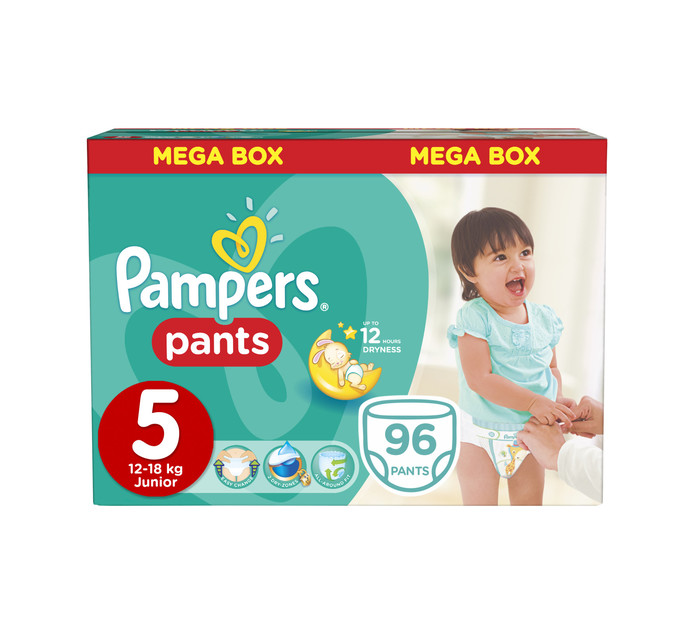 PAMPERS DISPOS PANTS MEGA BOX