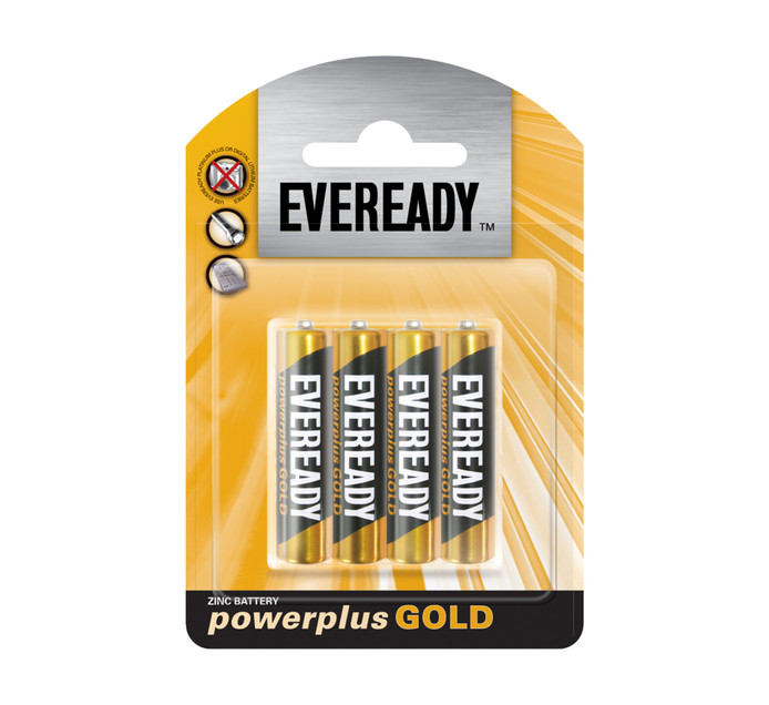 EVEREADY AAA 4 PACK Power Plus Gold AAA 4 Pack