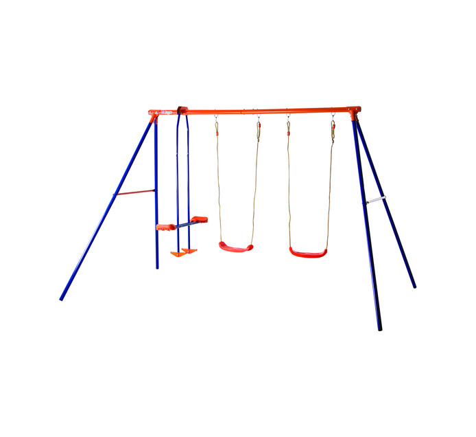 KIDS GRO Glide and Double Swing Set