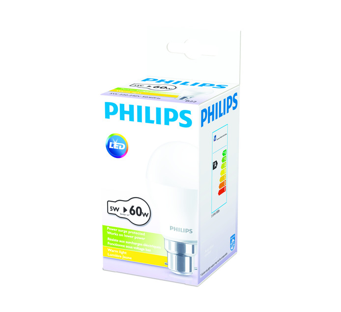 PHILIPS LED 5W A60 BC WW