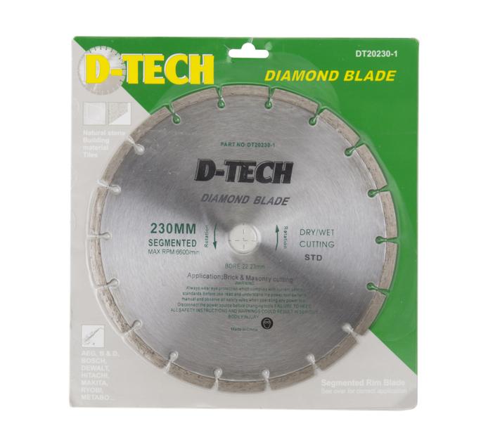 D-TECH 230 mm Diamond Cutting Disc