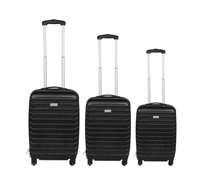 MYKONOS TROLLEY SET 3 PIECE BLACK 8b4bf27ce8a76