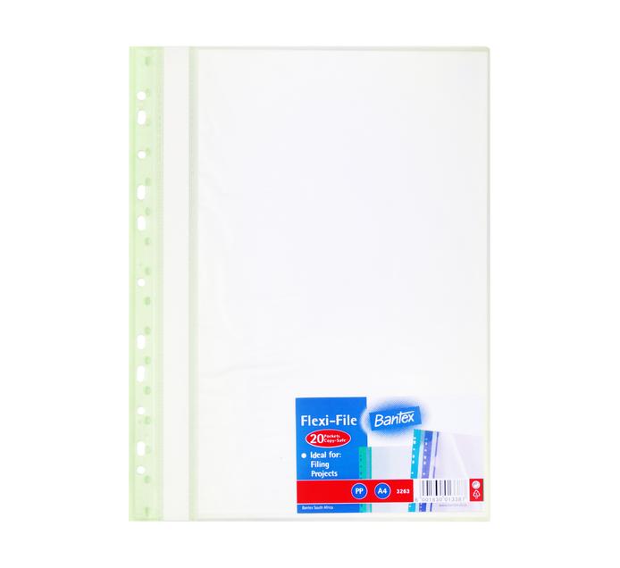 BANTEX A4 Flexifile Display Book 20 Pocket
