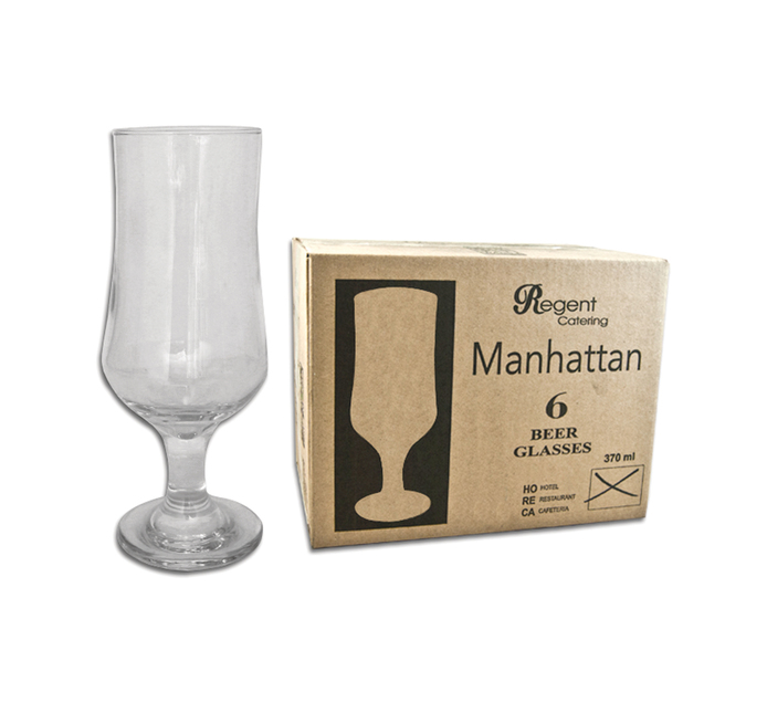 REGENT 6 Pack Manhattan Beer Stemmed glasses