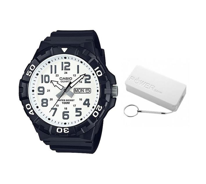 Casio Men`s MRW-210H-7AVDF Divers look Analog Watch Bundle