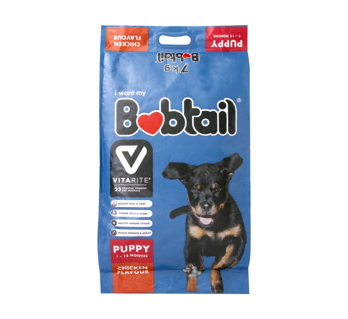 BOBTAIL Dry Dog Food Puppy Mini Chicken (1 x 7kg)