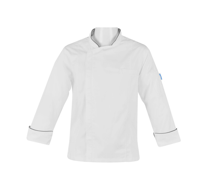 BAKERS & CHEFS Bakers&Chefs Long Sleeve Zipper Jacket white