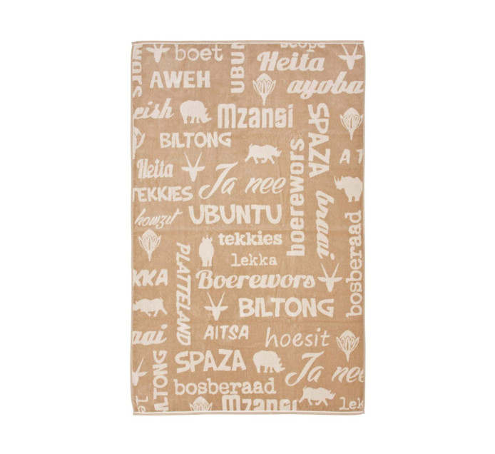 GLODINA SA Words Bath Sheet Assorted Colours