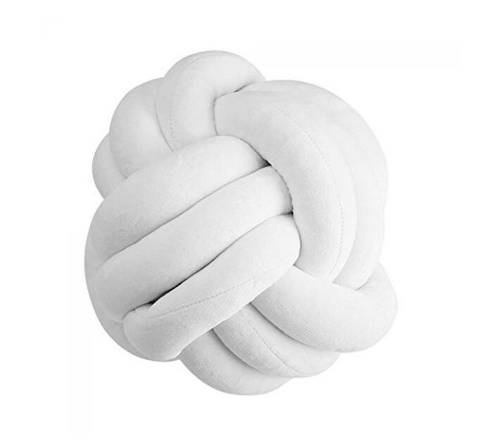 Nuovo - Knot Ball Pillow - White