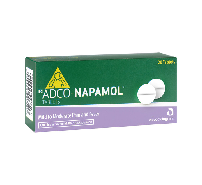 ADCO-NAPAMOL Paracetamol Analgesic Tablets (1 x 20's)