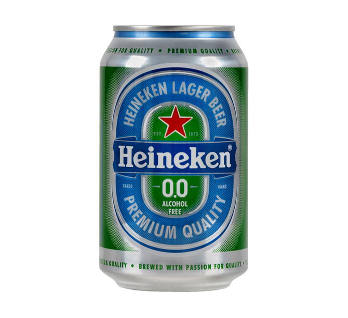 HEINEKEN 0.0 LAGER BEER CAN 330ML