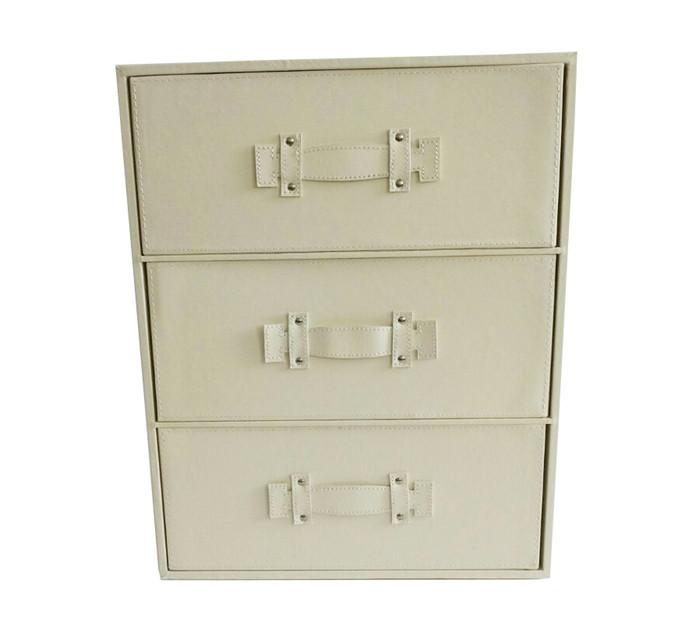 Medium Evo PU 3-Drawer Storage
