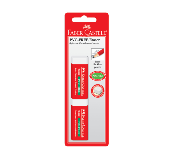 FABER CASTELL PVC Free Eraser 2 Pack