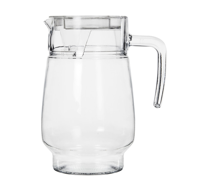 REGENT 1.3l Glass Water Jug with Clear Lid