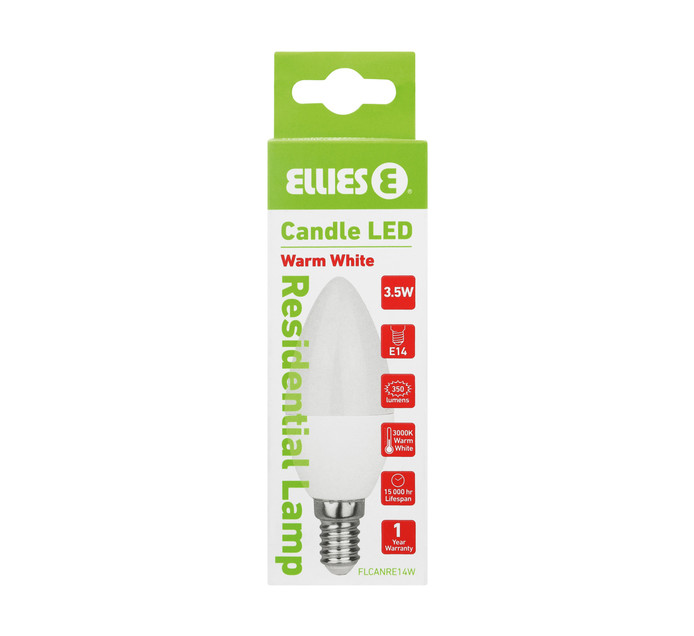 ELLIES LED ECO 3.5W CANDLE WW SES