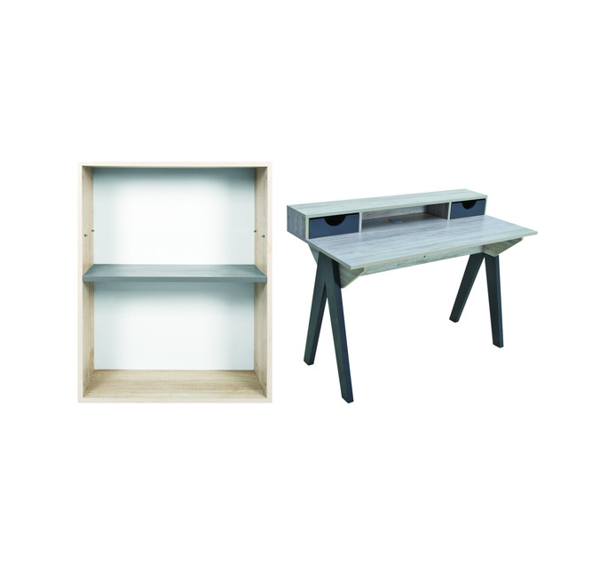 Munich Workdesk and Bookcase Combo