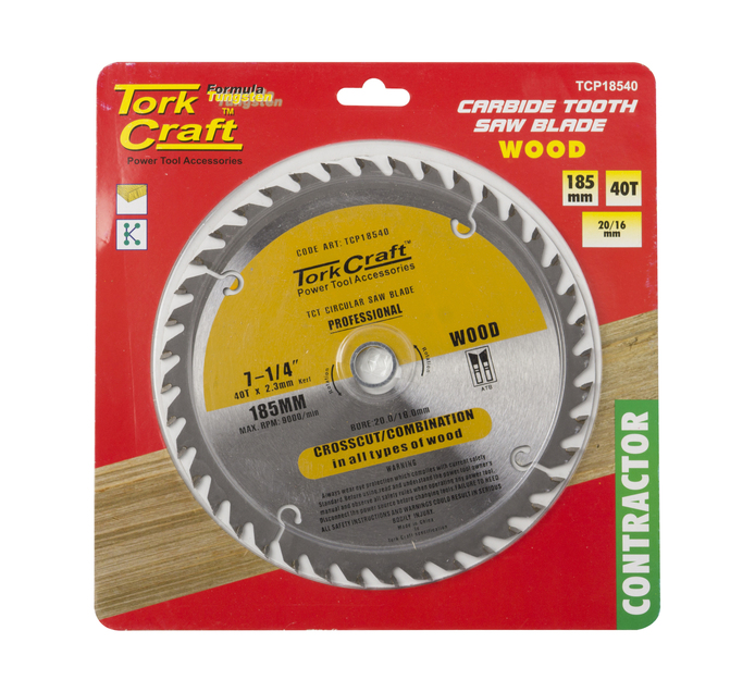 TORK CRAFT 185 x 40T Contractor Blade