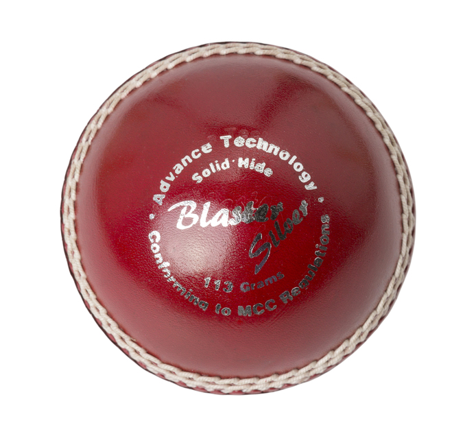 BLASTER SILVER CRICKET BALL 113G RED