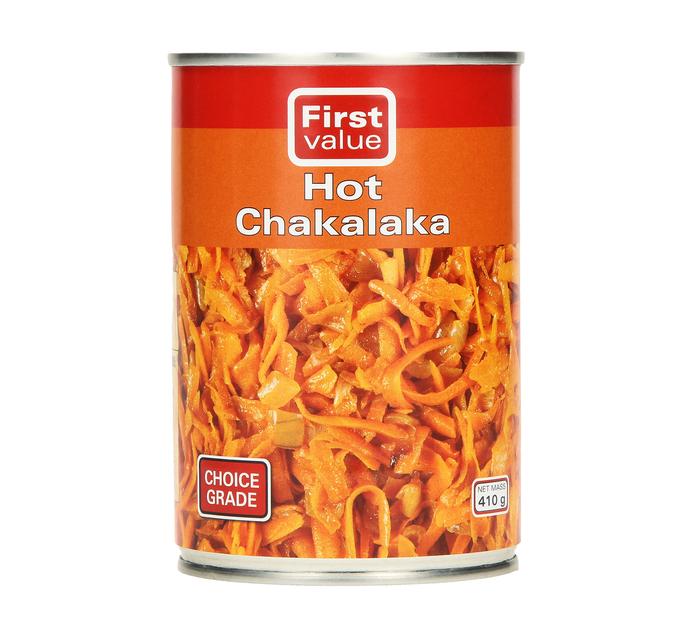 FIRST VALUE Chakalaka Hot (12  x 410g)